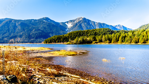 Entrance to Pitt Lake with the Snow Capped Peaks of the Golden Ears, Tingle Peak Canvas-taulu