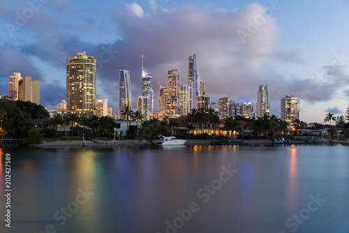 Poster Oceanië Surfers Paradise skyline, Australia