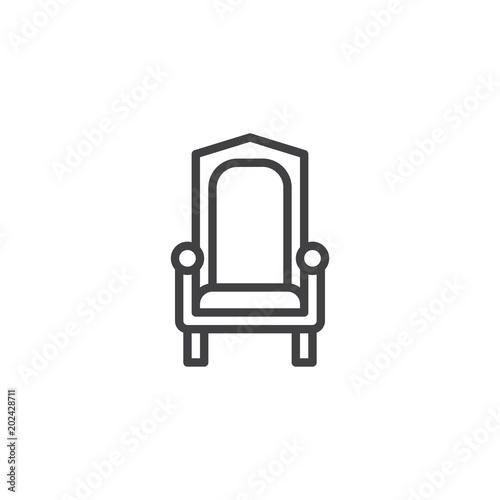 Foto  Royal throne outline icon