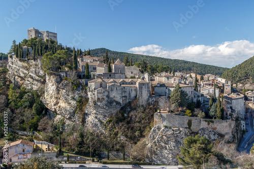 View to old historic part of Vaison-la-Romaine village, Provence, France