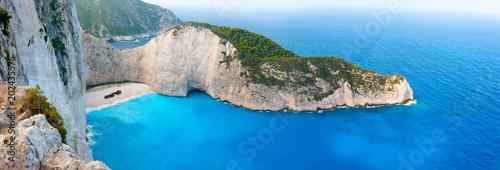 Cuadros en Lienzo Shipwreck panorama cliff in Zakynthos Greece