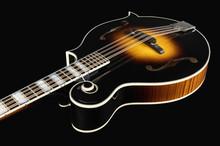 Mandolin Isolated On Black Bac...
