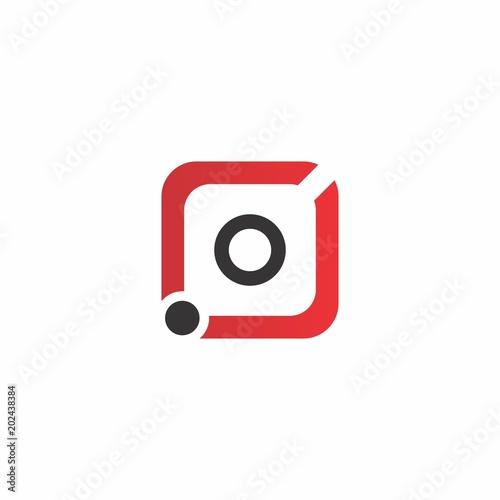 Fototapeta camera logo design for application and photography obraz na płótnie