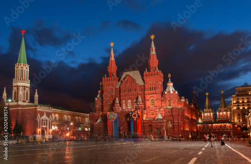 Foto op Aluminium Aziatische Plekken State Historical Museum on red square in Moscow. Russia