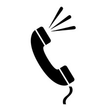 Retro Telephone Handset Vector...