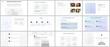 Minimal presentations, portfolio templates. Blue color elements, connection concept. Brochure cover vector design. Presentation slides for flyer, leaflet, brochure, report. Social network concept.