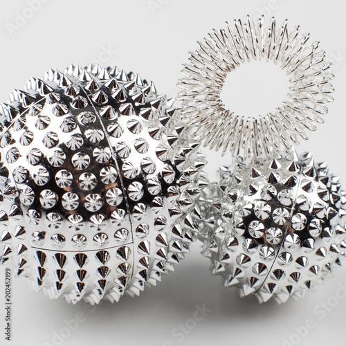 Magnetic balls for self massage  Acupressure  Oriental