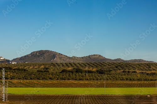 Foto op Canvas Blauwe jeans Landscape