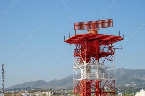radar in airport and air traffic control Wallpaper Mural