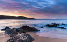 Soft Rocky Dawn Seascape