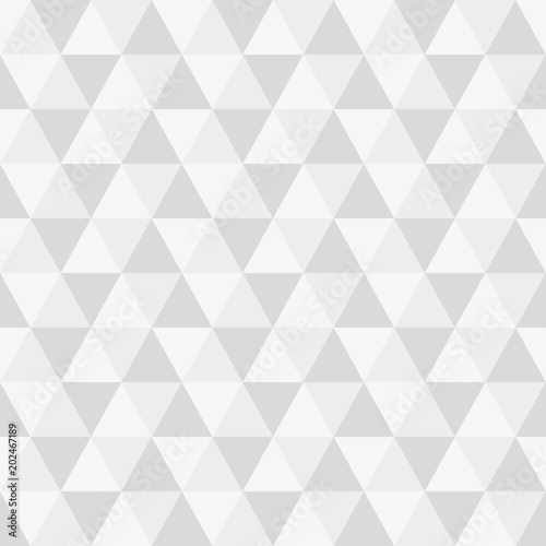 fototapeta na ścianę Triangle seamless background. Modern triangular geometric pattern. Polygon texture. Vector illustration.