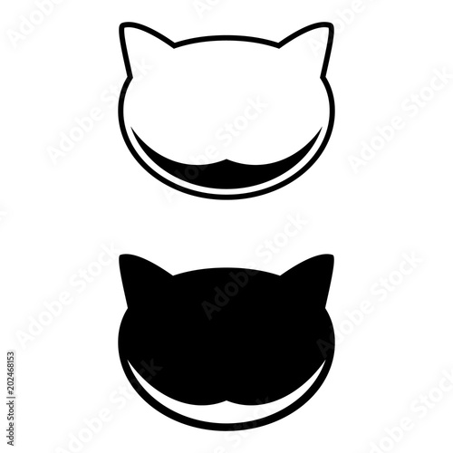 Fotografia Cheshire Cat, set of icon