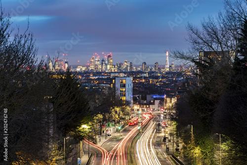 London panoramic view at dusk