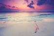 romantischer Morgen am Strand
