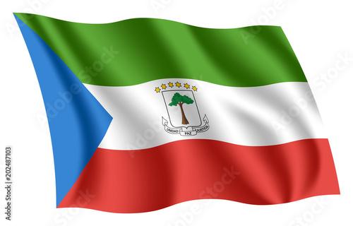 Fotografía  Equatorial Guinea flag