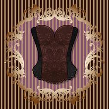 Lace Black-brown Vintage Corse...