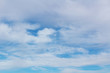 Background with white clouds on blue sky. Abstract background