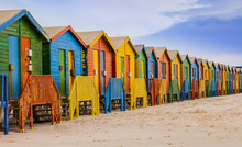 Row Of Colorful Bathing Huts I...