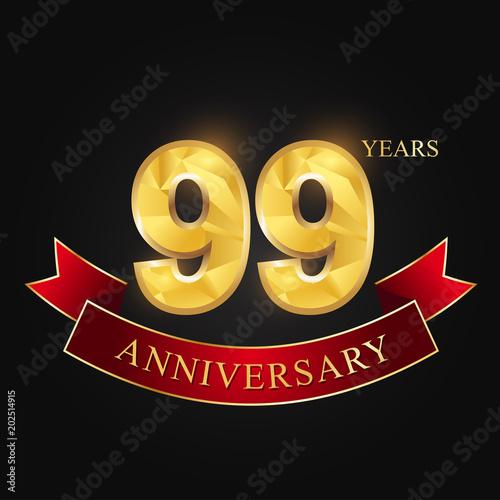 Photographie  anniversary, anniversary, 99 years anniversary celebration logotype