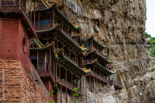 Fotomural Hanging Temple, Shanxi province, China