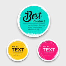 Colorful Label Paper Circle Br...