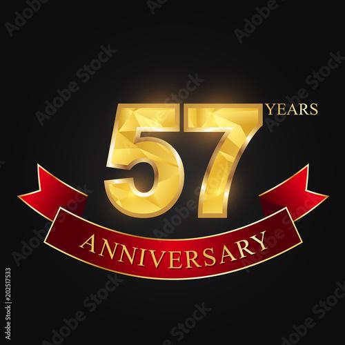 anniversary, anniversary, 57 years anniversary celebration logotype Canvas-taulu