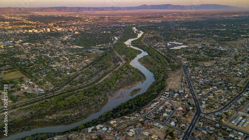 Rio Grande River in Albuquerque, New Mexico Canvas Print
