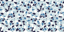 Bright Abstract Mosaic Seamless Pattern. Vector Background. Endless Texture. Ceramic Tile Fragments.