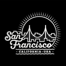 San Francisco Design Template. Vector And Illustration.