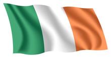Ireland Flag. Isolated Nationa...
