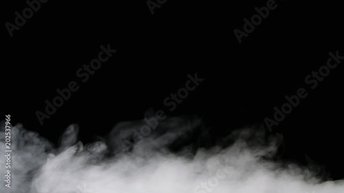 Garden Poster Smoke Isolated fog or smoke move on black color background