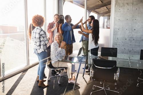 Business entrepreneur with creative team
