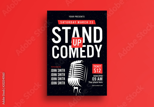 Stand Up Comedy Flyer Layout