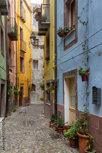 Foto op Plexiglas Havana Typical streets of the town Bosa, Sardinia