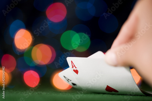 Two Aces. The best starting hand in Texas Hold 'em Poker. плакат