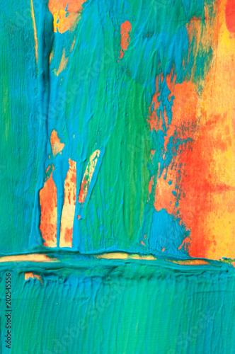 Cuadros en Lienzo abstract painting, gouache colors, detail