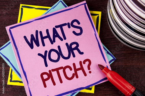 Fotografie, Obraz  Word writing text What Is Your Pitch Question