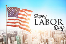 Poster Of Happy Labor Day Text...