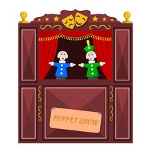 Bright A Puppet Theater On A W...