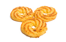 Coconut Biscuit Rings Isolated