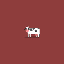 Cow Vector Template Design Illustration