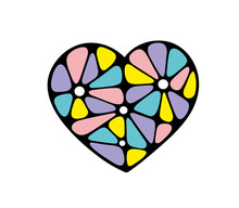 Coloful Abstract Heart Made Of...