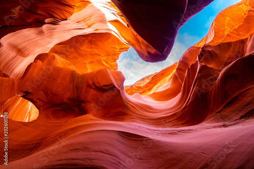 Photo sur Toile Orange eclat Lower Antelope Canyon