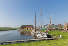 Outer Harbor With Wooden Saili...