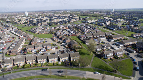 Keuken foto achterwand San Francisco aerial view of sutton park housing estate, kingston upon hull