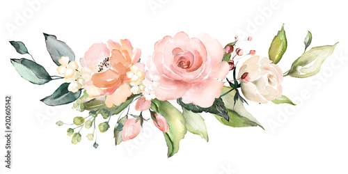 Photo  watercolor flowers