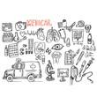 medical, doodle