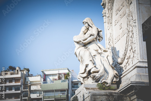 Foto op Aluminium Begraafplaats Monuments at Recoleta Cemetery, a public cemetery in Buenos Aires, Argentina.
