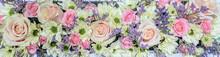 Horizontal Flower Arrangement....