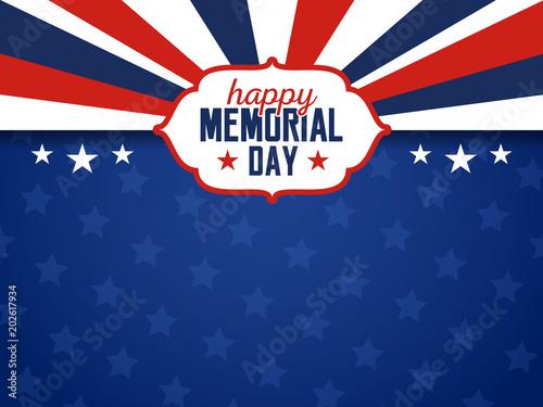 Fotografie, Obraz  USA Memorial Day Background